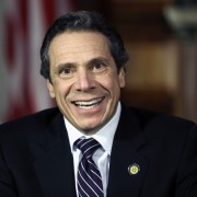 New York Gov. Andrew Cuomo on Wednesday, Feb. 20, 2013, in Albany, N.Y. (AP Photo/Mike Groll)